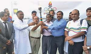 National Games torch reaches Lahore