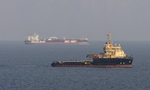 Iran says oil tanker struck by rockets off Saudi Arabia