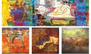 Exhibition of the works of two senior artists opens