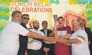 National Games torch receives warm welcome at Railways headquarters