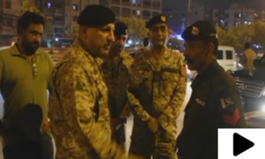 ڈی جی رینجرز سندھ کا کراچی کے مختلف علاقوں کا دورہ