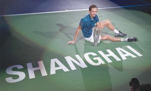Medvedev thumps Zverev to win Shanghai Masters