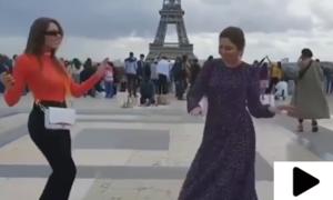 اداکارہ ماہرہ خان کی ایفل ٹاور کے سامنے رقص کی ویڈیو وائرل
