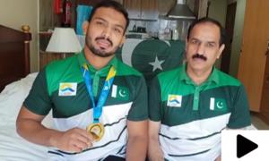 پاکستانی ریسلر انعام بٹ نے ملک کا نام روشن کردیا