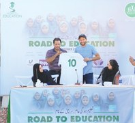 Shahid Afridi launches 'Road to Education Tour'