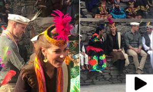 شاہی جوڑا چترالی ثقافت کے رنگوں میں رنگ گیا
