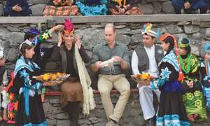 Royal couple mingle with Kalasha, see melting glacier