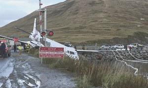Plane carrying 42 goes off Alaska  runway; two critically hurt