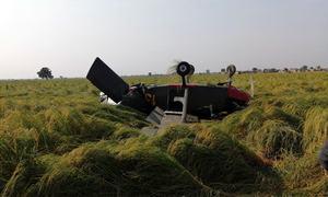 Pilots safe as Pak Army trainer aircraft crash-lands near Wazirabad