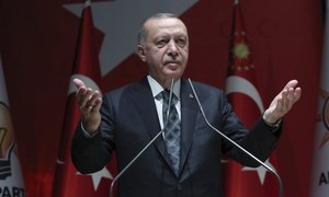 Erdogan accuses the West of 'standing by terrorists' in Syria
