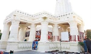 Hindus handed over temple after renovation