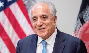 Khalilzad briefs Ghani on peace efforts