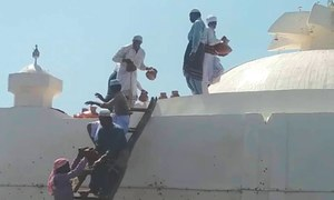 Sheikh Salamat's shrine washed with milk in expression of love and reverence