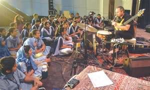 Schoolchildren enjoy music with French quartet