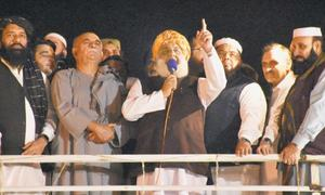 Fazl extends sit-in, threatens to spread protest nationwide