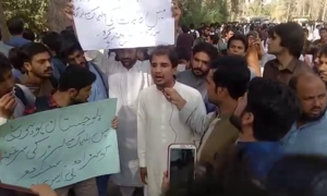 Students demand action against elements behind Balochistan University video scam