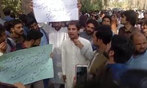 Students demand action against elements behind Balochistan University video scam