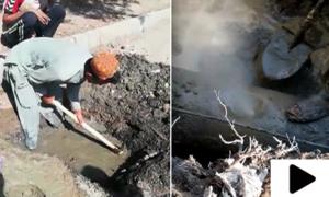 کراچی میں کھدائی کے دوران گیس پائپ لائن پھٹ گئی