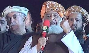 آزادی مارچ: مولانا فضل الرحمٰن کا آج سے پلان 'بی' شروع کرنے کا اعلان