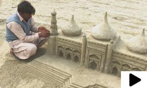 کراچی کے ساحل پر بنے مجسمے شہریوں کی توجہ کا مرکز