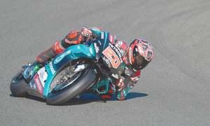 Rookie rider on pole for season-ending MotoGP