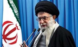 مظاہروں کے پیچھے ایران دشمن عناصر ہیں، آیت اللہ خامنہ ای