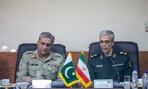 آرمی چیف کی ایرانی چیف آف اسٹاف سے ملاقات،سیکورٹی صورتحال پر تبادلہ خیال