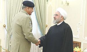 Bajwa, Rouhani agree to boost security ties