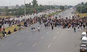 Traffic in disarray as family of three people killed in firing blocks Islamabad Expressway