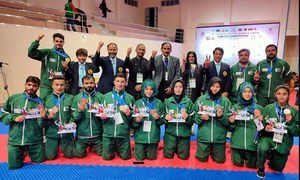 Pakistan bag one gold, two silver and one bronze