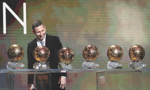 Messi claims record sixth Ballon d'Or