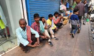 India's poor fight desperate battle to find work as slowdown bites