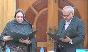 Retired Justice Altaf Ibrahim Qureshi takes oath as acting chief election commissioner
