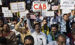 Thousands in India protest citizenship bill excluding Muslims