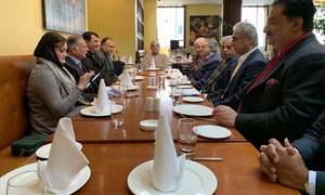 PML-N leaders hold consultative session with Shehbaz Sharif in London