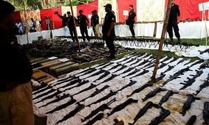 پشاور: افغانستان سے براستہ طورخم اسلحہ اسمگلنگ کی کوشش ناکام