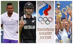 سال 2019ء میں کھیلوں کے میدان میں کھڑے ہونے والے بڑے تنازعات