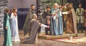 Does Khalid Ahmed capture the essence of King Lear in NAPA's adaptation?