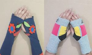 Wonder Craft: Fingerless gloves from old socks