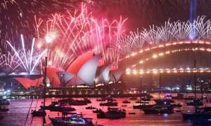 دنیا بھر میں شاندار آتش بازی سے نئے سال کا استقبال
