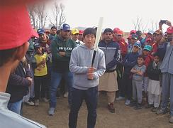 Japanese baseball coach visits academy in Swabi, lauds young talent