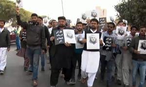 کراچی اور اسلام آباد میں امریکا مخالف ریلیاں ،متعدد شاہراہیں بند