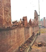 Dhian Singh Haveli wall collapses as site remains unattended