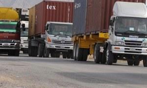 Goods transporters end strike on Sindh govt's assurances