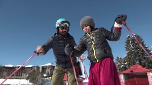 She learnt to ski on wooden boards. Now this 12-year-old girl is ready to take on the world