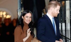 شہزادہ ہیری اور میگھن کی شاہی حیثیت کے خاتمے کا باقاعدہ اعلان