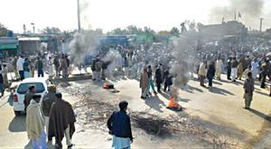 Road to KP blocked for hours in protest against murder