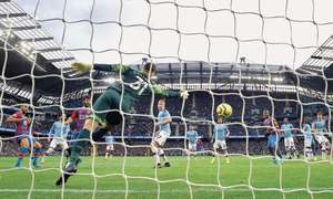 City held by Palace as EPL's big teams drop points