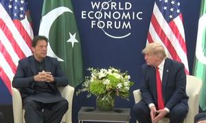 Kashmir, Afghanistan in focus as PM Imran, Trump meet on sidelines of Davos summit