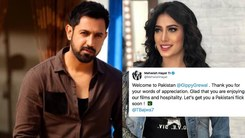 Indian star Gippy Grewal is in Pakistan and says he'd love to work with Mehwish Hayat